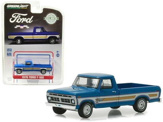 1976 Ford F100 Pickup Exclusive Edition Greenlight 1/64 Sa17