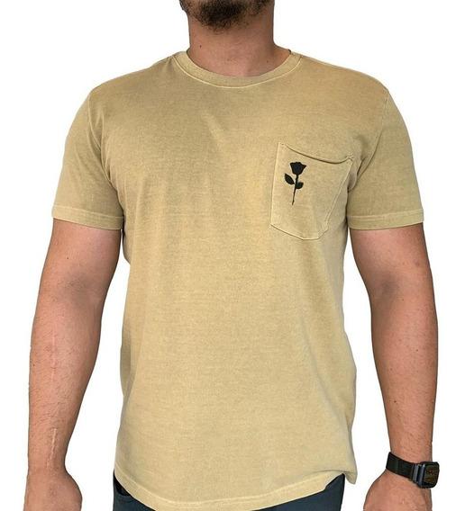 Camiseta Osklen Strong Pocket Rose Stencil