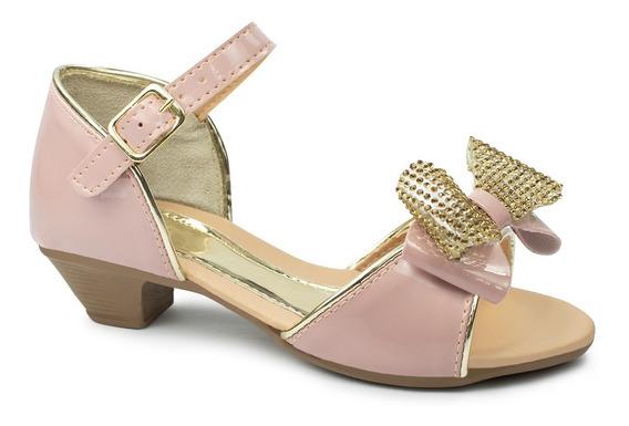 Sandalia Salto Infantil Menina Festa Dama Boneca Sapato 36