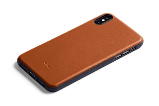 Bellroy Leather iPhone Xs Max Phone Funda - Caramel