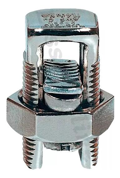 Conector Paraf. Fenda Cabos Fios 50mm Split Bolt Cobre 20pçs