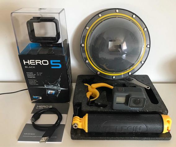 Gopro Hero 5 Black 4k 12mp + Dome + Acessórios Diversos