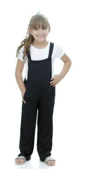 Macacão Jardineira Infantil Menina