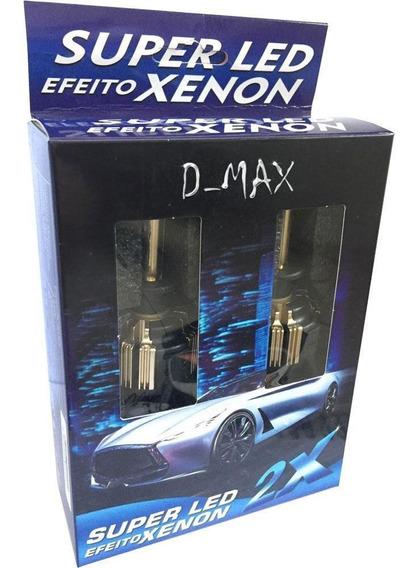 Super Led Efeito Xenon Gold Com Cooler H13 6000k 9000 Lumens