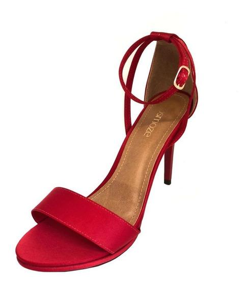 Sandália Osmoze Salto Fino Vermelho
