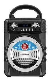 Caixa De Som Portátil Mp3, Mp4 P2 Led Bluetooth 30w Rádio Fm
