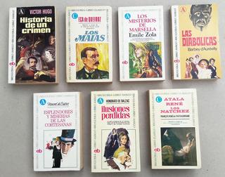 Balzac, Zola, Víctor Hugo Bruguera Libro Amigo Lote