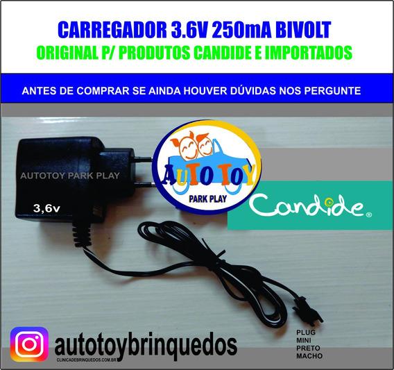 Carregador 3.6v/250mah Mini Plug Preto
