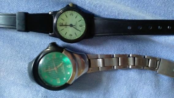 02 Relógio De Pulsos Sucata Para Colecionar Ou Retirar Peças