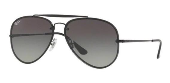 Oculos Sol Ray Ban Blaze Aviador Rb3584n 153/11 Preto Cinza