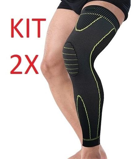 Kit 2 Meia De Compressao Muscular Treinos Corridas Fitness
