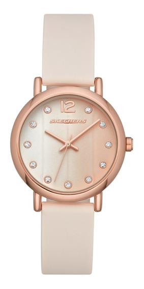Reloj Dama Skechers Alondra Sr6192 Color Rosa De Silicon