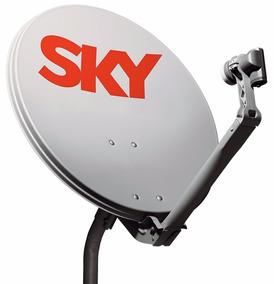 Kit 2 Antenas Sky+2 Lnb Sharp Impecáveis Zerada Sem Aparelho