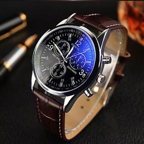 Relógio Luxo Masculino Geneva Social Pulseira Couro Promoção