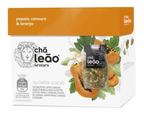 Chá Leão Senses - Papaia, Laranja E Cenoura 10 Saches