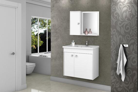 Gabinete Banheiro Com Pia Munique Branco_branco