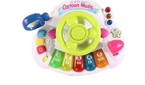 Volante Juguete Musical Para Bebe Con Sonidos Luces Y Mas!