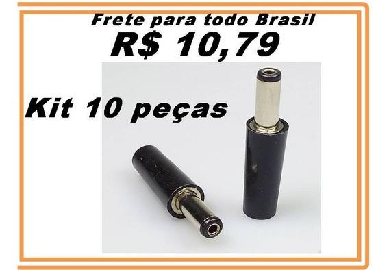 Plug P4 Macho Para Fonte Notebook 5.5mm 1.90mm Kit 10 Pçs