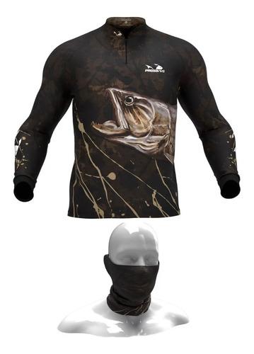 Camisa, Camiseta De Pesca Presa Viva Traira 04 + Tube Neck