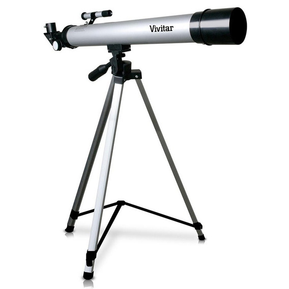 Telescópio Refrator Com Tripé 600mm Vivitar Vivtel50600