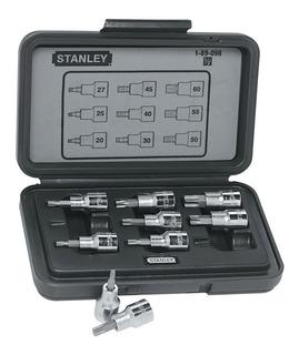 Jogo De Soquete Torx De 1/2 Pol T20-t60 9 Pçs Stanley 89-098