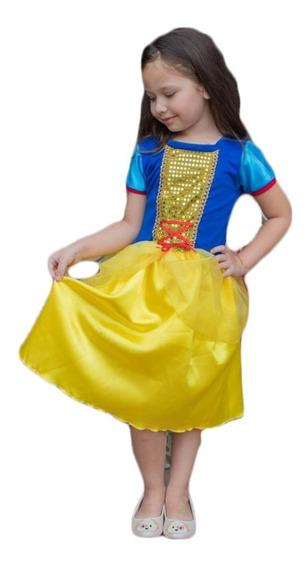 Fantasia Princesa Branca De Neve Infantil Princesas Disney