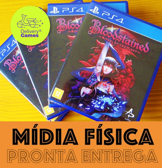 Bloodstained Ritual Of The Night Ps4 Mídia Física Lacrado
