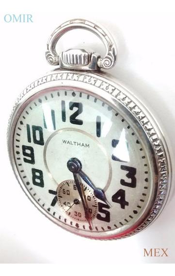 Reloj Waltham Bolsillo Crescent St Cronometro Antiguo Video
