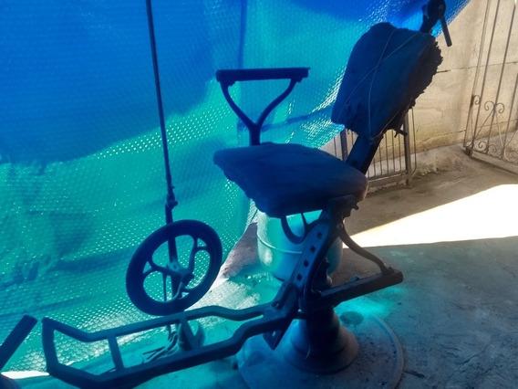 Cadeira De Dentista Antiga Raridade Com Roda De Polimento