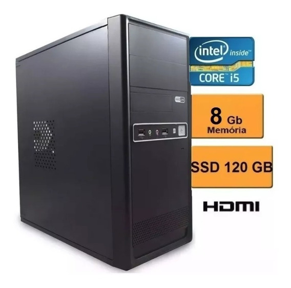 Pc Cpu Computador Intel Core I5 + Ssd120 + 8gb+win 7