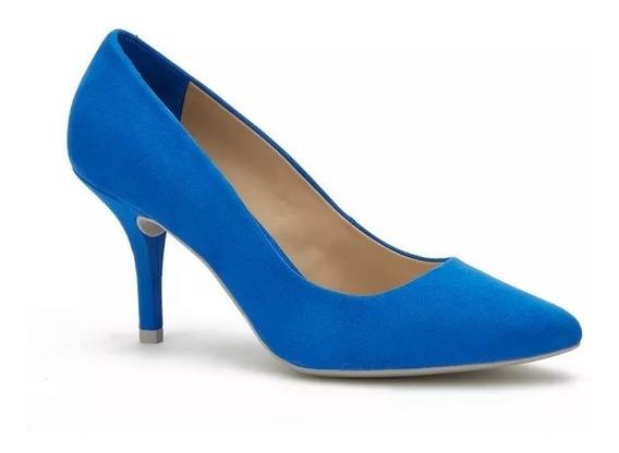 Zapatillas Andrea Azul Rey Bajitas Cómodas 2525440 Mod. 678