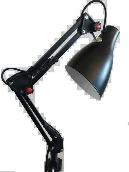 Abajur Luminária Mesa Flexível Dobrável Articulável Garra