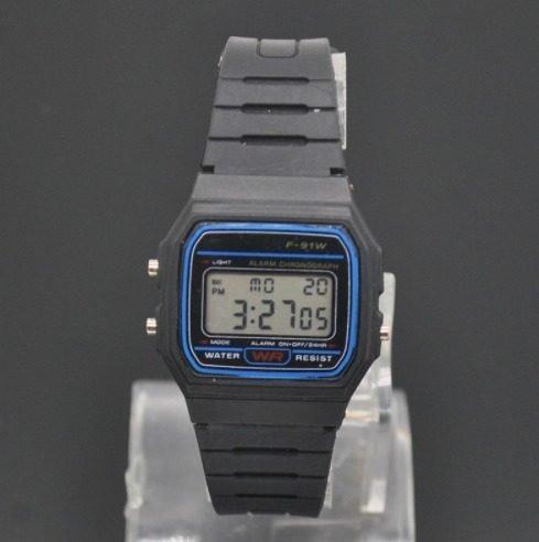 Relógio Digital Unissex Preto Silicone Cronometro Alarme