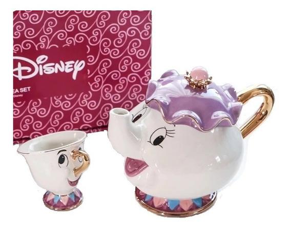 Bule E Xícara A Bela E A Fera - Disney - Porcelana Decoração