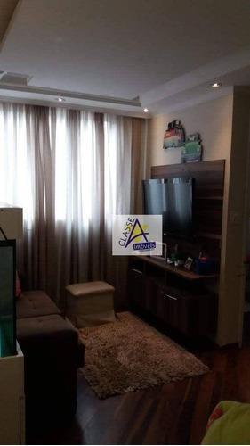 Imagem 1 de 12 de Apartamento Com 2 Dormitórios Para Alugar, 48 M² Por R$ 1.500,00/mês - Parque São Vicente - Mauá/sp - Ap0742