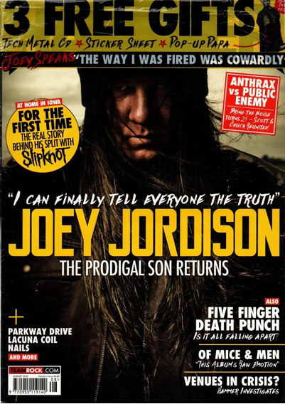 Metal Hammer - Revista De Rock Pauleira Joey Jordison
