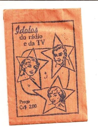 Envelope De Figurinhas Ídolos Do Rádio E Tv
