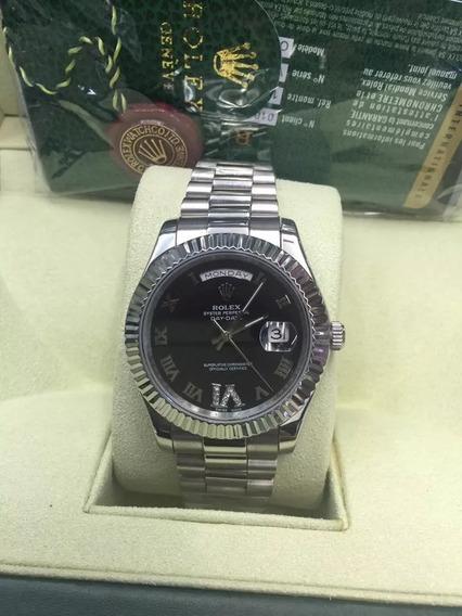 Relógio Bbr1632 Daydate Preto Automátic Prata Oferta 40mm