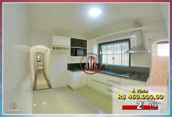Casa Com 2 Dormitórios À Venda, 118 M² Por R$ 460.000,00 - Aviação - Praia Grande/sp - Ca0122