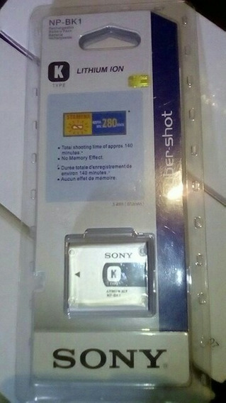 Bateria Pila Sony Recargable Np-bk1 Tipo K + Cargador