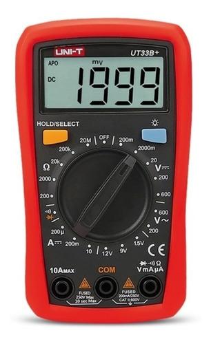 Multímetro Tester Digital De Mano Uni-t Ut33b+ Profesional