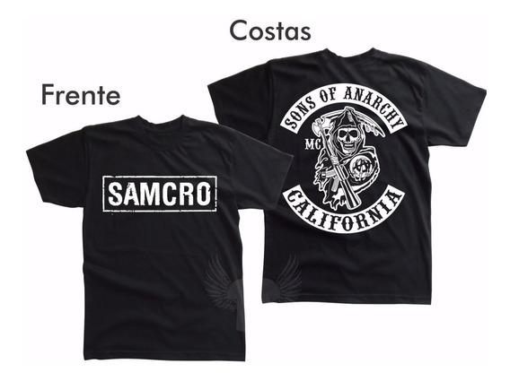Camiseta Samcro Sons Of Anarchy Algodão