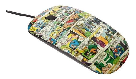 Mouse Plástico Quadrinhos Dc Colorido