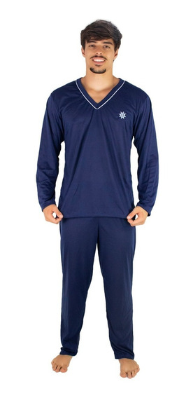 Kit 3 Pijama Masculino Longo Blusa Comprida E Calça Longa