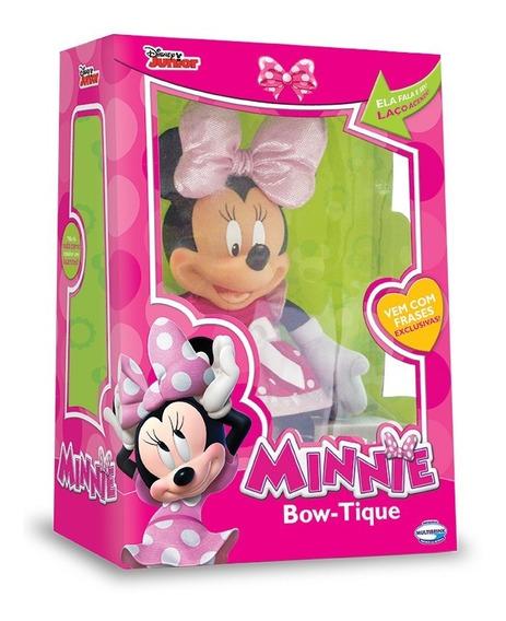Pelúcia Minnie Boutique - Fala E Lenço Acende - Multibrink
