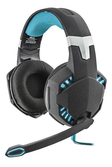 Headset Gamer Trust Gxt Hawk 7.1 Vibration Com Fio Pc Novo