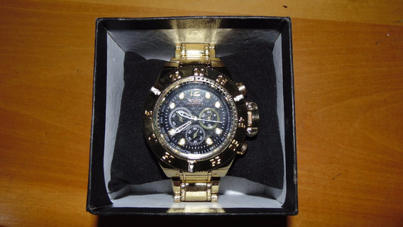 Relógio Invicta Estilo Original Dourado Seminovo Grande