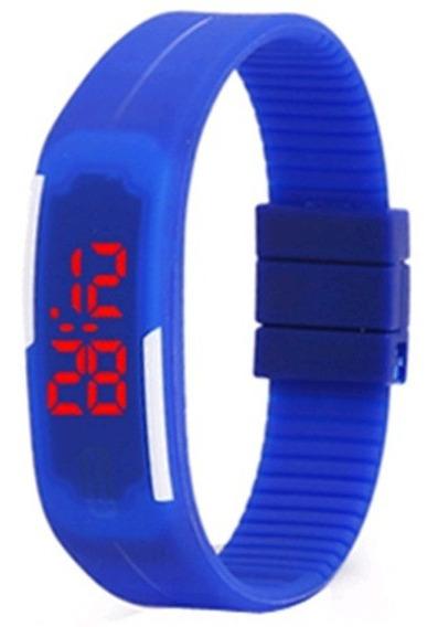 Relógio Digital Esporte Bracelete Led Adulto Infantil Barato(kit Com 03 Unidades )