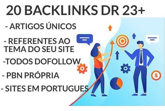20 Backlinks Dr 23+ Ahrefs Você Na Primeira Página Do Google