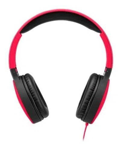 Imagem 1 de 5 de Headphone Dobrável New Fun P2 Multilaser Fone Vermelho Ph270